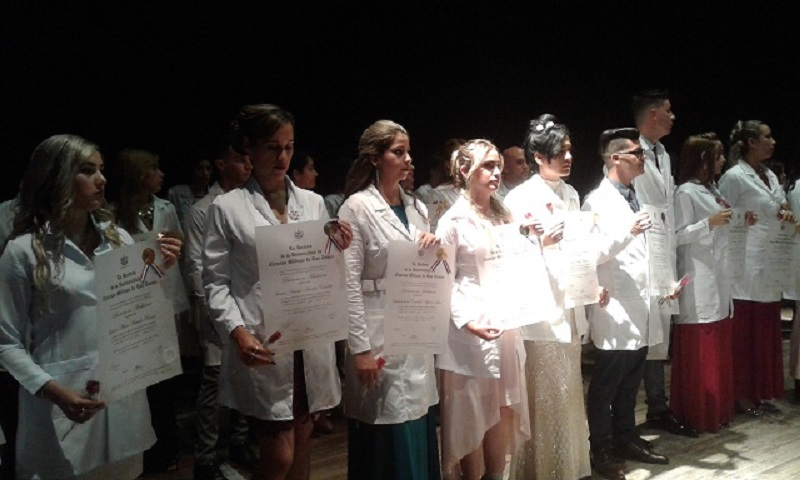ELAM graduates some 500 medical science professionals from 104 countries
