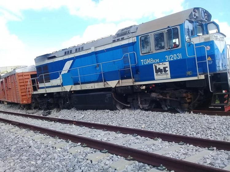 Accidente de tren de carga en La Habana causa pérdidas materiales