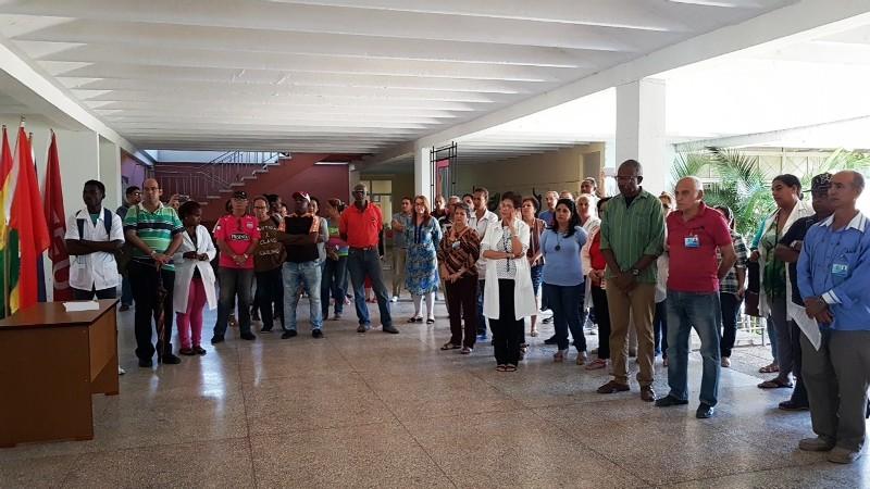 Apoyo a Venezuela desde la Universidad médica de Camagüey