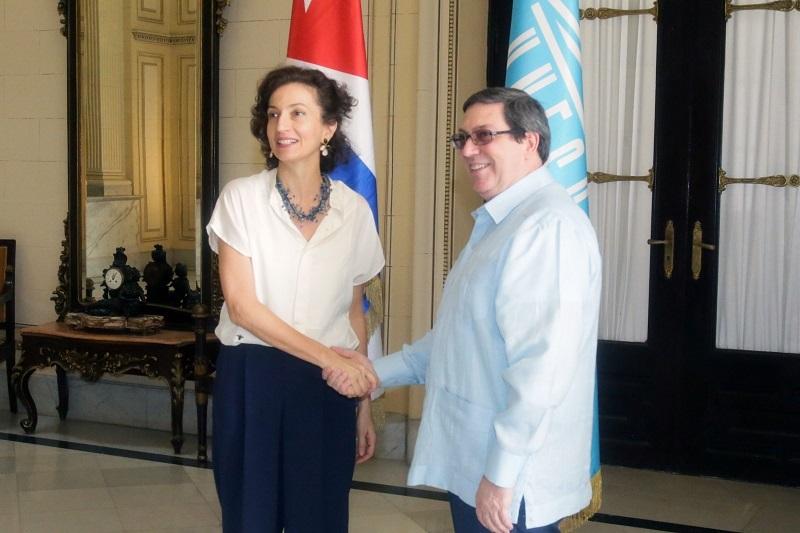 Agradece Directora General de la UNESCO cálida acogida en Cuba