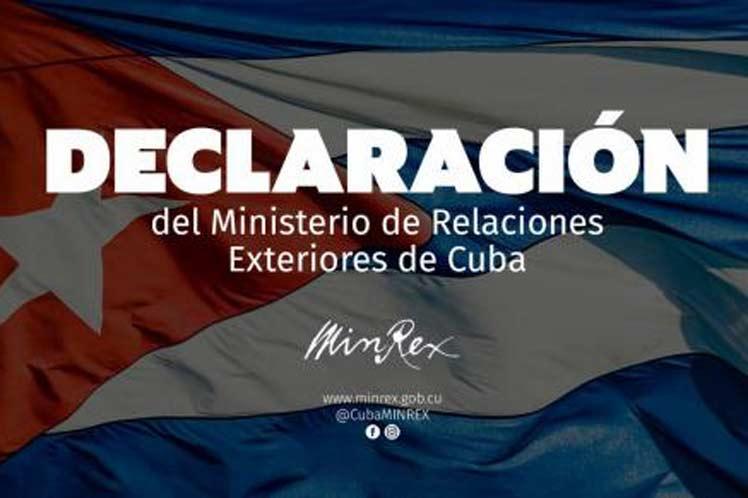Declaración del Ministerio de Relaciones Exteriores