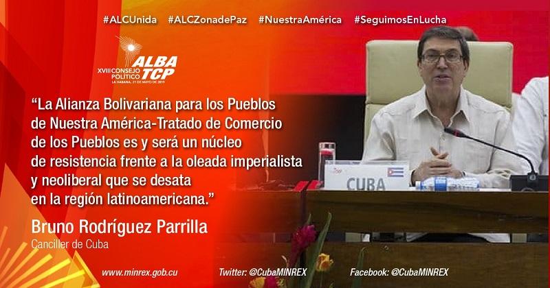 Asiste Díaz-Canel a la clausura del XVIII Consejo Político del ALBA-TCP