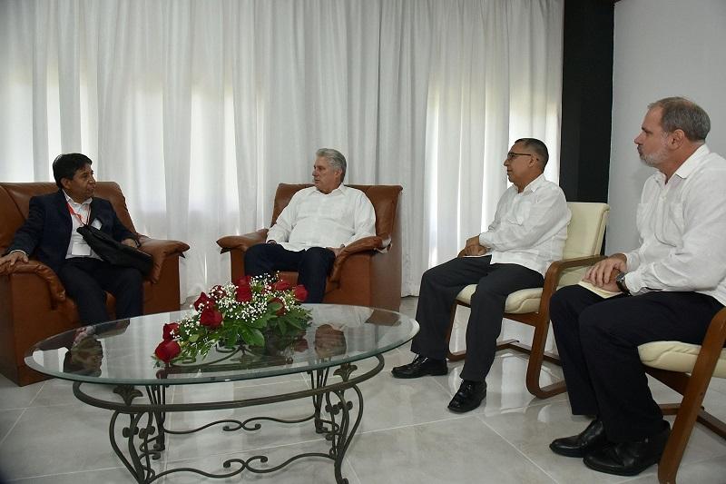 Sostiene Díaz-Canel encuentros con líderes políticos