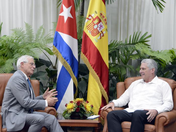 Recibe Díaz-Canel al Ministro de Asuntos Exteriores de España