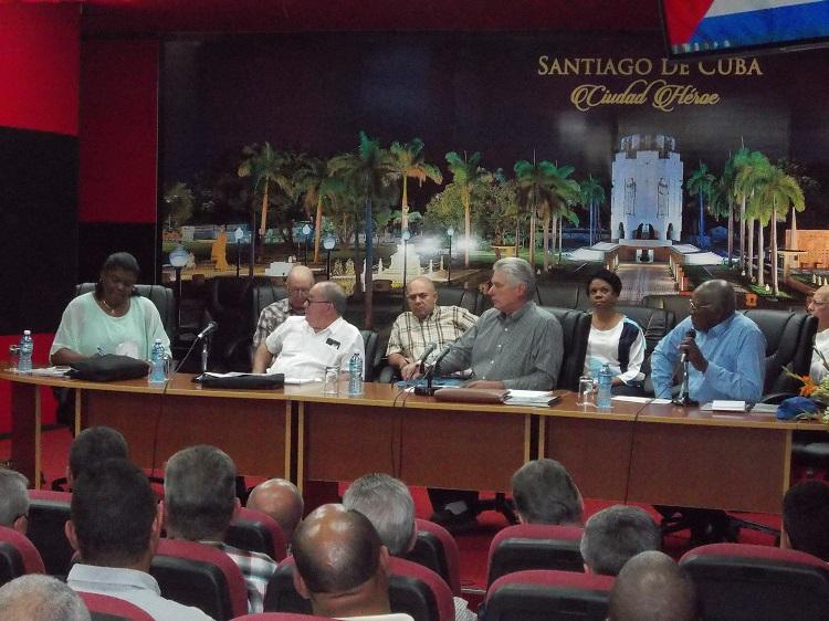 Concluye Díaz-Canel visita gubernamental en Santiago de Cuba