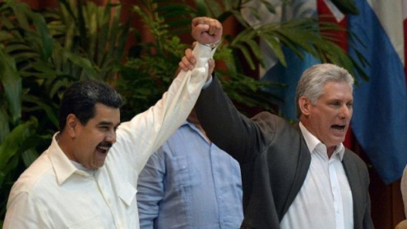 Apoya Díaz-Canel al presidente Maduro y al pueblo venezolano