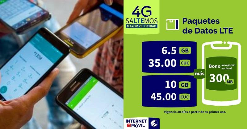Nueva oferta de ETECSA para el servicio de Internet por 4G/LTE