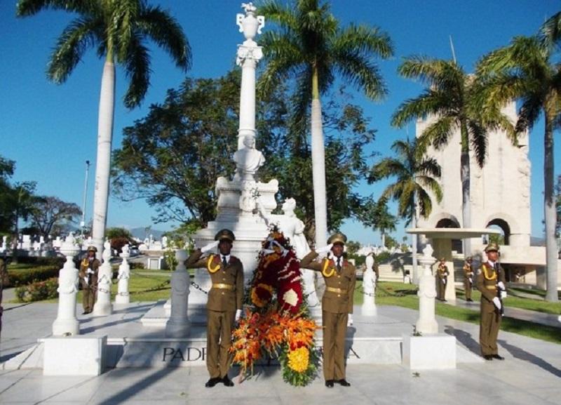 Recordado El Padre de la Patria en Santiago de Cuba
