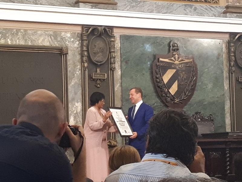 Reconoce Universidad de La Habana a Primer Ministro de la Federación de Rusia