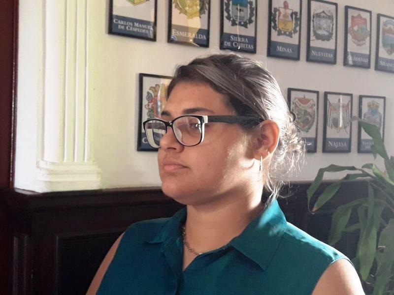 Doraine Linares, presidenta de la FEU en la Universidad de Camagüey.