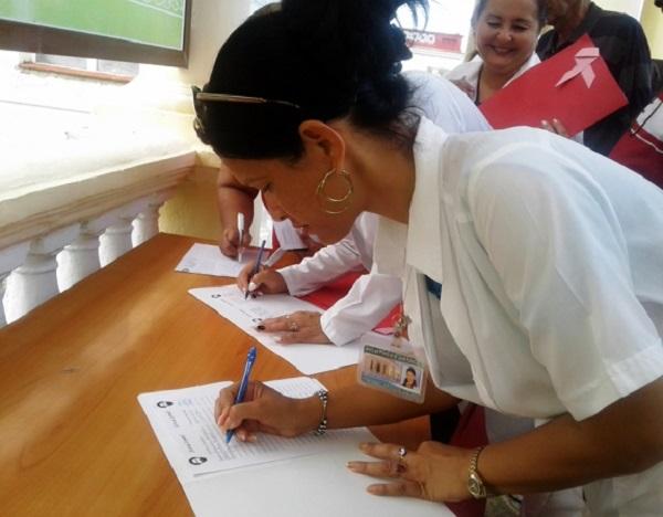 Reclaman libertad para Lula trabajadores de Salud Pública en Cienfuegos