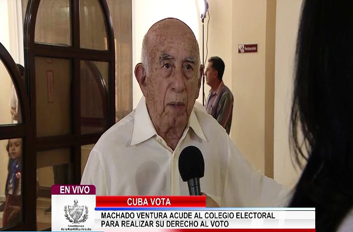 Machado Ventura: Auguro perdurabilidad para la nueva Constitución