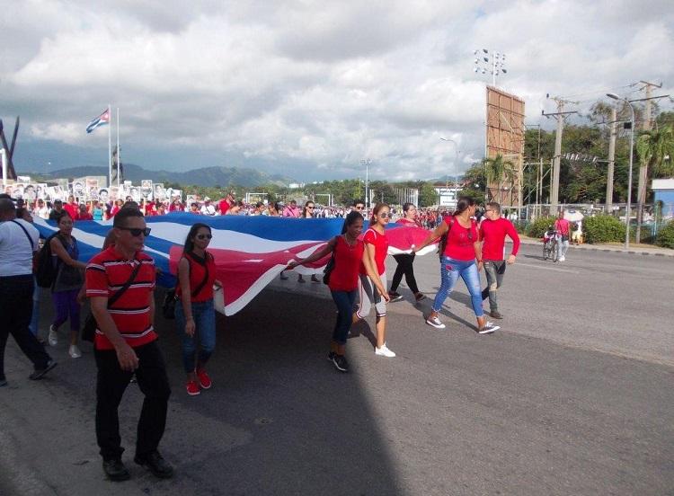 En fotos: Oncena Marcha universitaria de Reafirmación Revolucionaria en Santiago de Cuba