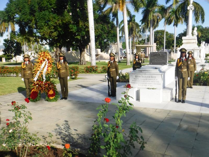 Homenaje a Mariana Grajales en el Altar Sagrado de la Patria