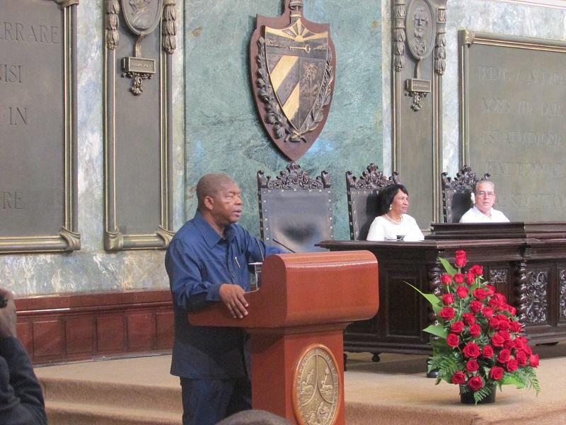 Imparte presidente de Angola conferencia magistral en la Universidad de La Habana