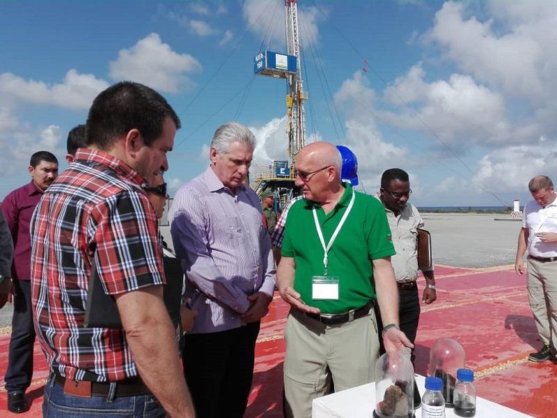 Díaz-Canel: Estamos marcando una nueva historia en el desarrollo de la industria de hidrocarburos en Cuba