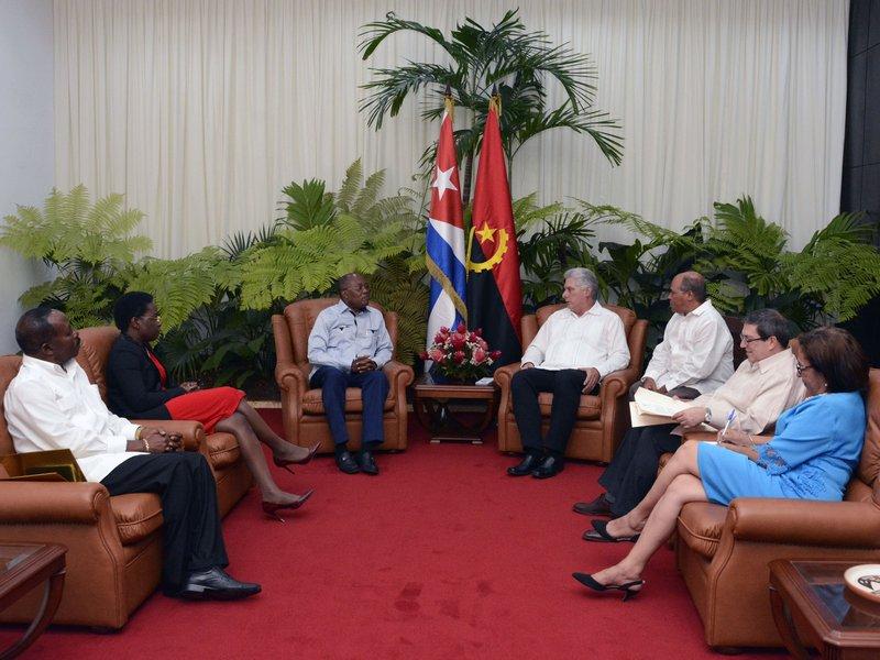 Recibió Díaz-Canel al Canciller de Angola