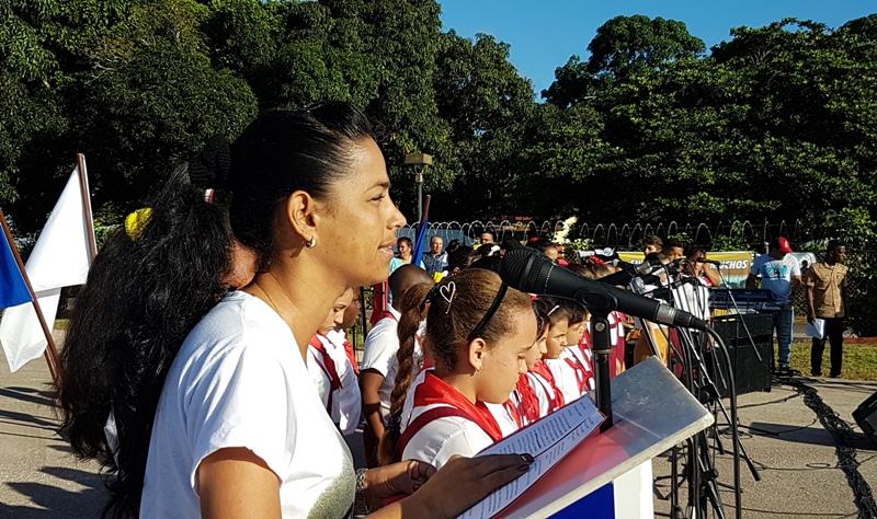 La Primera Secretaria de la UJC, Nislay Molina, ratificó el compromiso de los camagüeyanos con la Revolución.