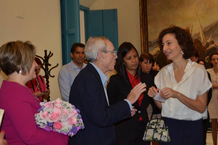 Recibió historiador de La Habana a directora general de la Unesco