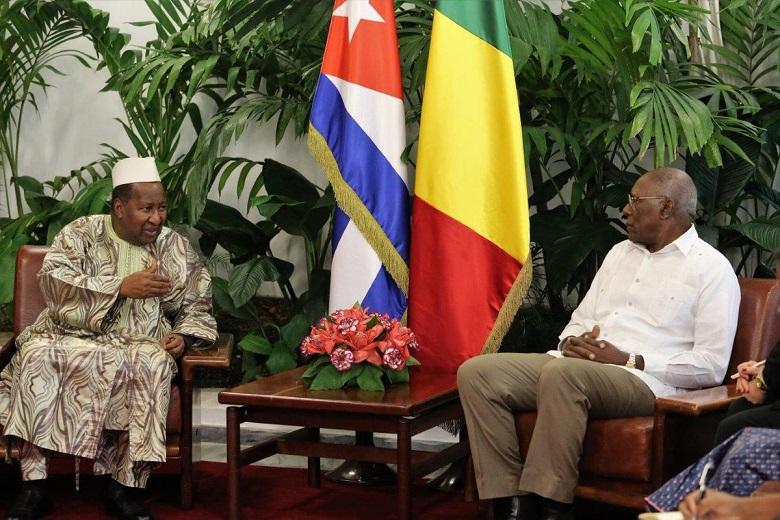 Recibió Valdés Mesa a expresidente de Mali