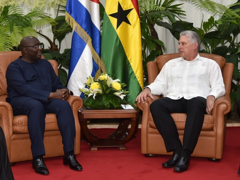 Recibió Díaz-Canel al Vicepresidente de Ghana