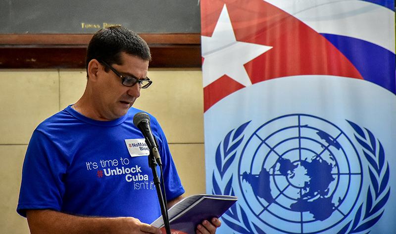 Embajador Fermín Quiñones Sánchez, presidente de la Asociación Cubana de Naciones Unidas.
