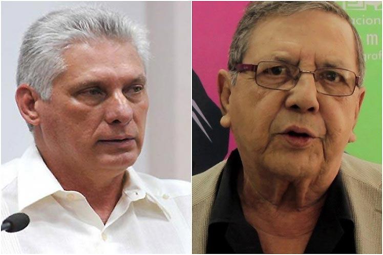 Lamenta Díaz-Canel deceso del cineasta Edmundo Aray