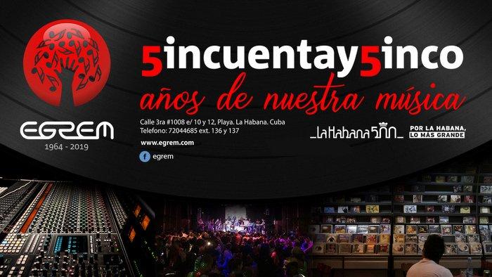 De fiesta Estudios Siboney de Santiago de Cuba por 55 años de la Egrem