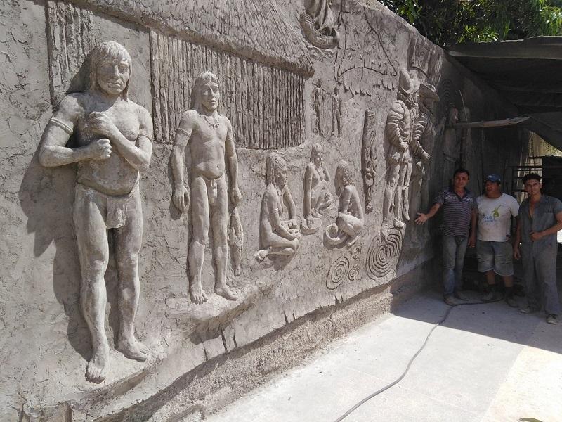 Construyen los tuneros el mayor mural pictórico sobre historia local