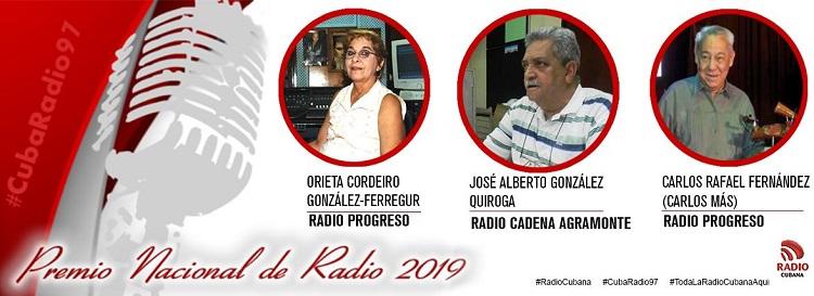 Otorgan Premio Nacional de Radio 2019 a Orieta Cordeiro, Carlos Más y José González Quiroga