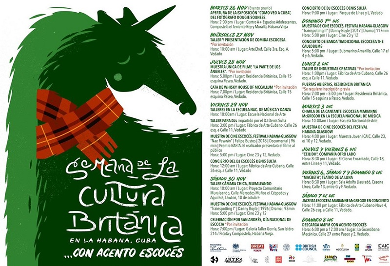 Cine, música y teatro en la Semana Británica en Cuba