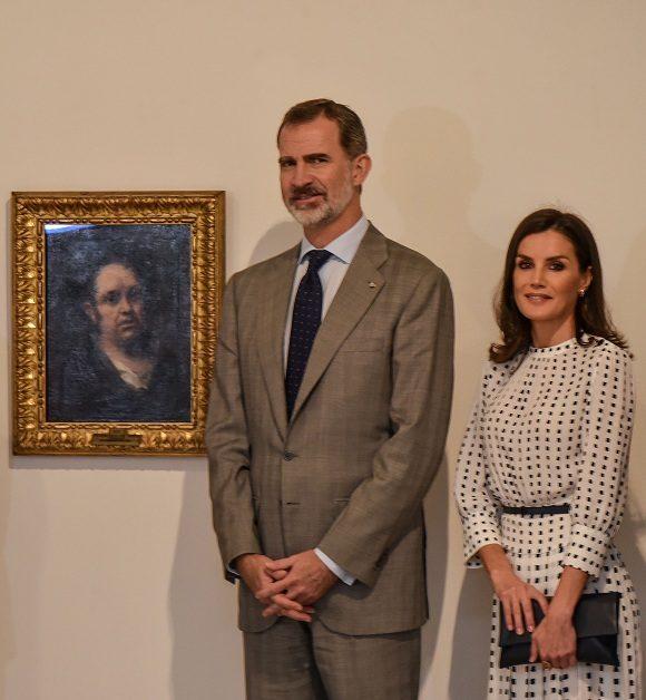 Inauguran reyes de España exposición en Cuba de autorretrato de Francisco de Goya