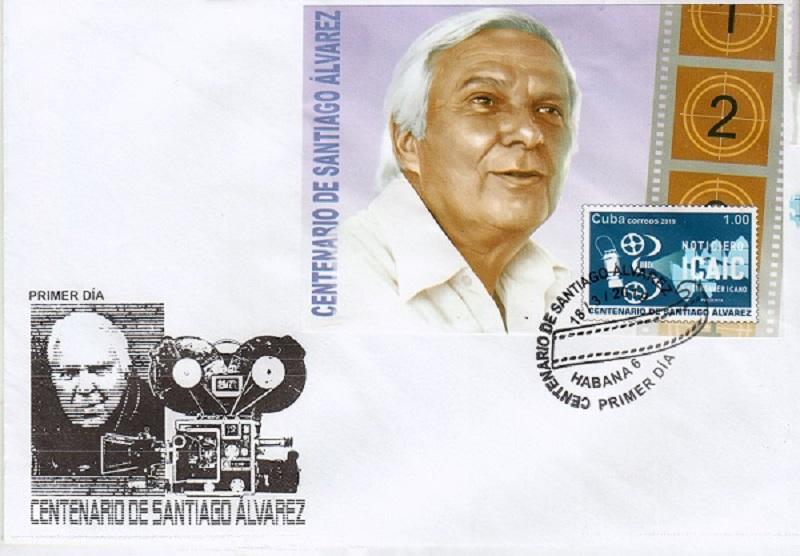 Santiago Álvarez, su imagen presente en la Filatelia cubana