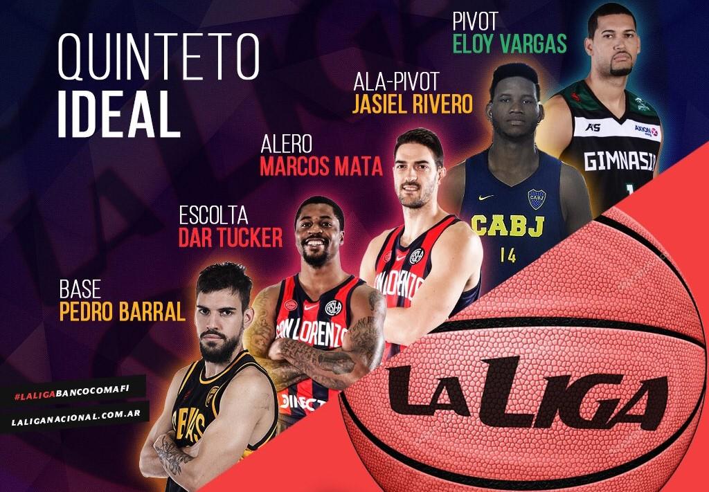 Jasiel en el quinteto ideal de Argentina