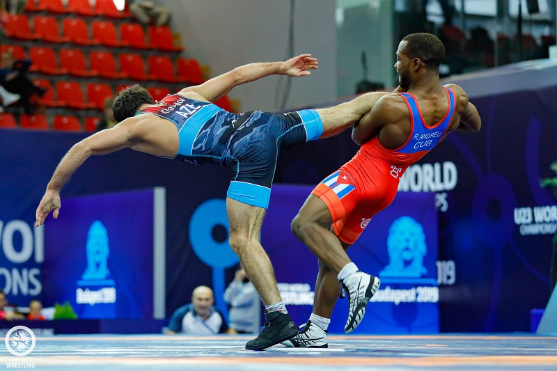Cuban freestyle wrestler Andreu becomes twice U23 world monarch