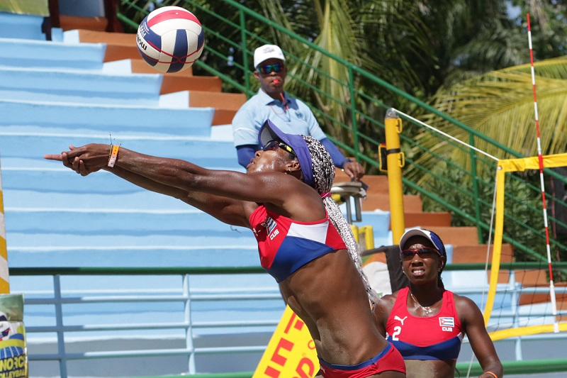 Cubanas a última etapa de circuito NORCECA de voly de playa