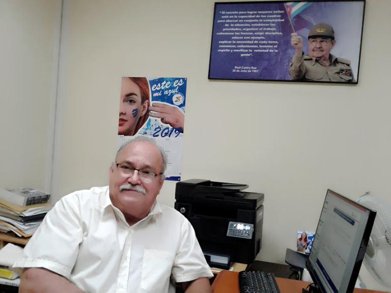 Director de la División Territorial de ETECSA en Cienfuegos, Luis Manuel Antuña Lajares.