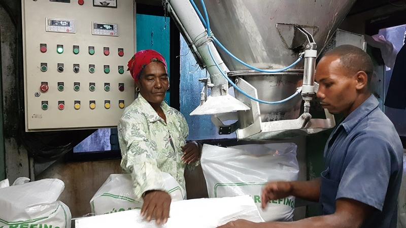 Sobrecumple producción de azúcar refino ingenio camagüeyano