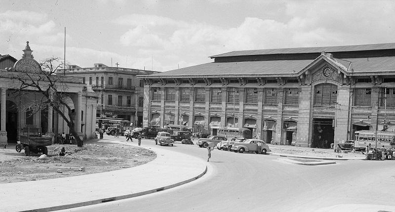 La Estación de Cristina y el Mercado Único en el año 1948.