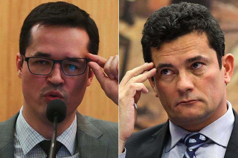 Deltan Dallagnol y Sergio Moro