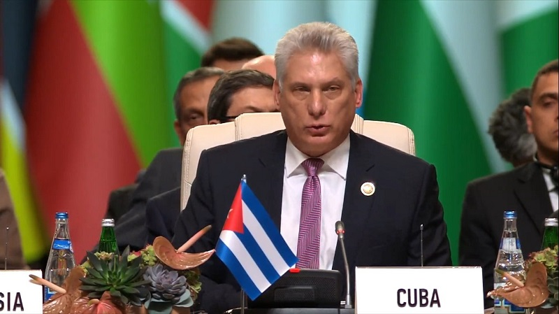 Only unity can save us, says Diaz-Canel at NAM Summit