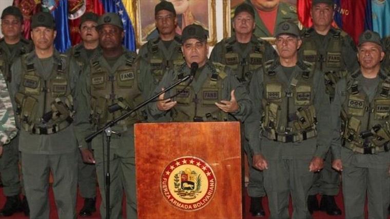 Militares venezolanos rechazan declaraciones de Donald Trump
