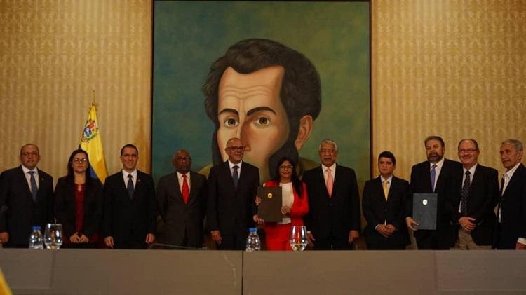 Gobierno venezolano y parte de la oposición firmaron acuerdo e instalación de la Mesa Nacional de Diálogo por la Paz