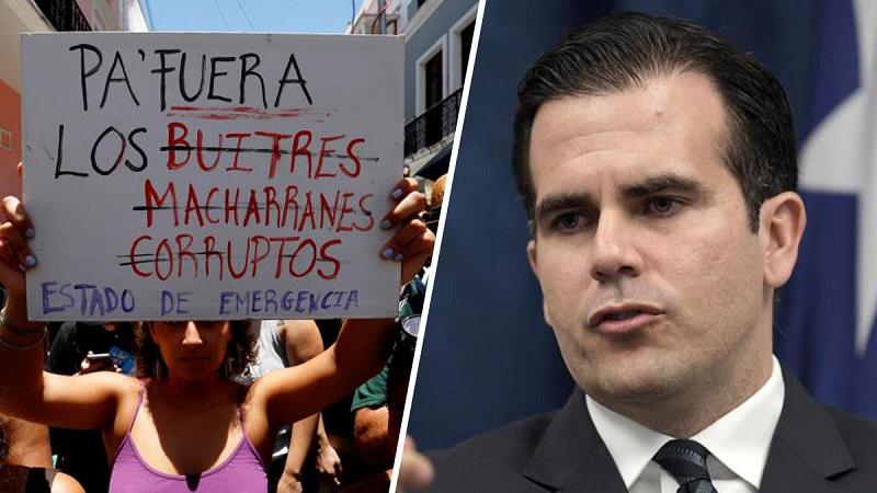 Dimitió el Gobernador de Puerto Rico, Ricardo Rosselló