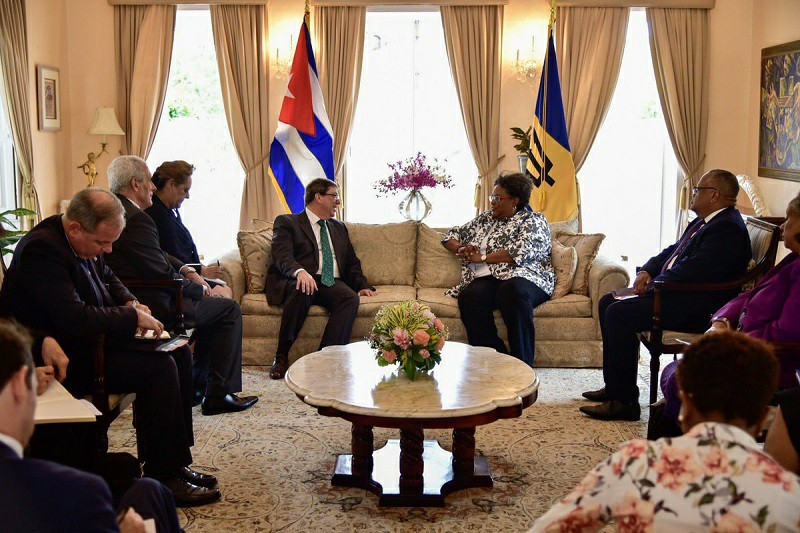 Prime Minister of Barbados receives Cuban Foreign Minister