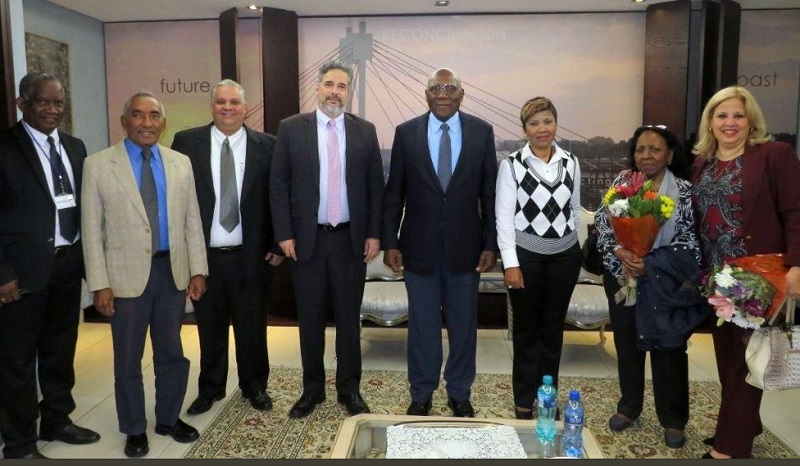 Inicia Salvador Valdés Mesa visita a Sudáfrica