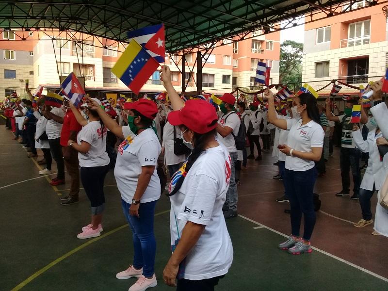Festejan el Primero de Mayo en Caracas