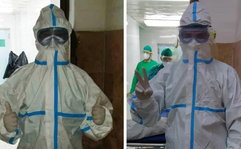 Intensivista Israel Almanza Tarifa (derecha) y Dr. Angel Luis González Justiz (a la izquierda).