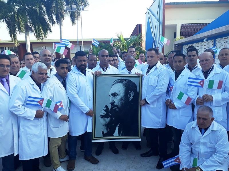 Hacia Italia brigada médica de Cuba para enfrentar nuevo coronavirus