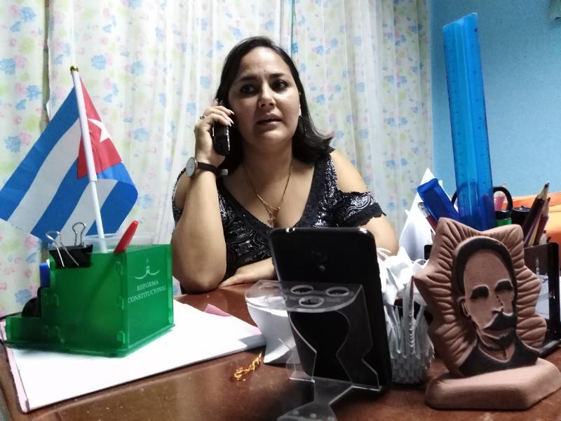 Presidenta de la Junta Erenis Marilin Tamayo Pérez.